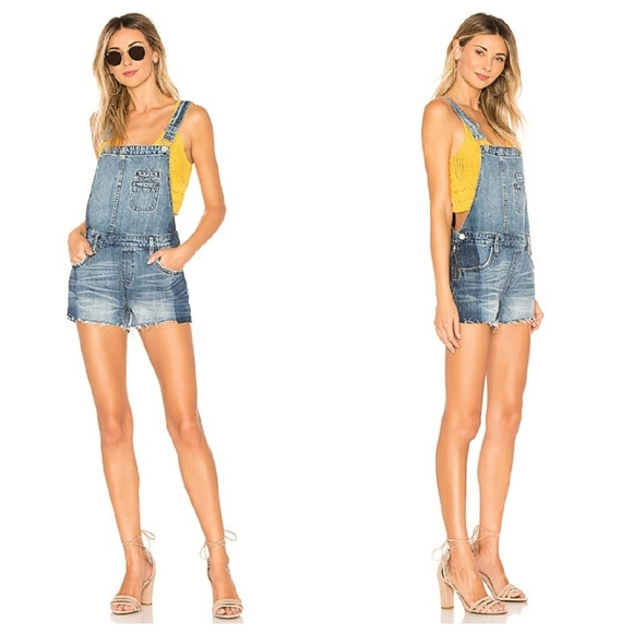 BLANK NYC Funny Bone Overalls in Blue